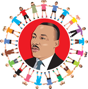 (Martin Luther King With Kids Circling.eps)